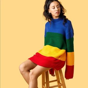 RARE UNIF Crayola Sweater size large rainbow